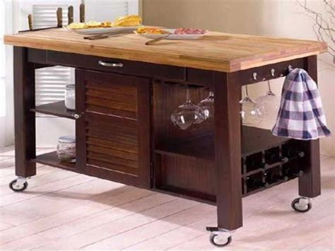 movable kitchen island ideas movable kitchen islands