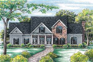 Traditional, Home, Plan, With, Icf, Exterior, Walls, -, 40847db