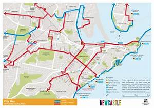 Newcastle Nsw City Cycle Map