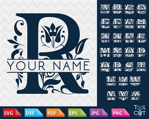 regal monogram font svg split alphabet svg regal initials svg