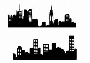 Free City Skyline Silhouette Vector – City Silhouette ...