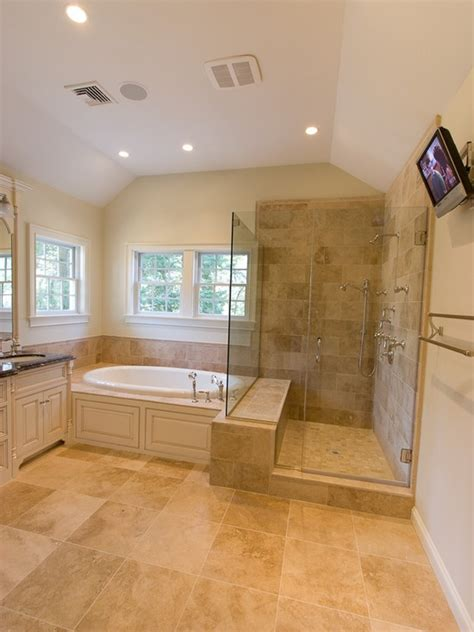 showers without doors or curtains home remodeling and