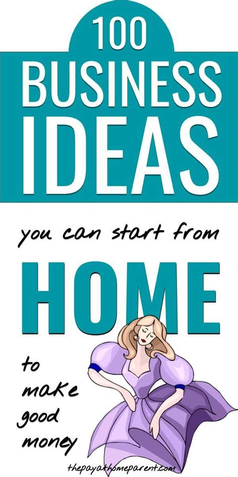 You can offer your services in person or remotely via a. 115 Ideas For A Home Based Business That Pay Up To ...