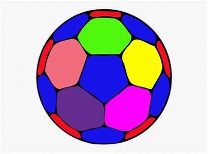 Ball Clipart Soccer Handball Clip Colorful Cartoon