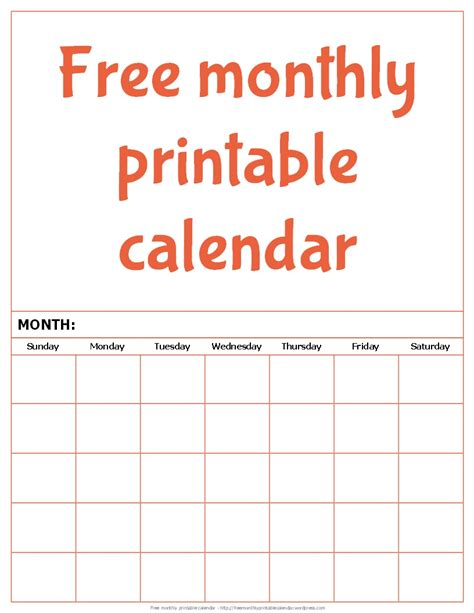 free monthly calendar template free monthly printable calendar free monthly printable calendar