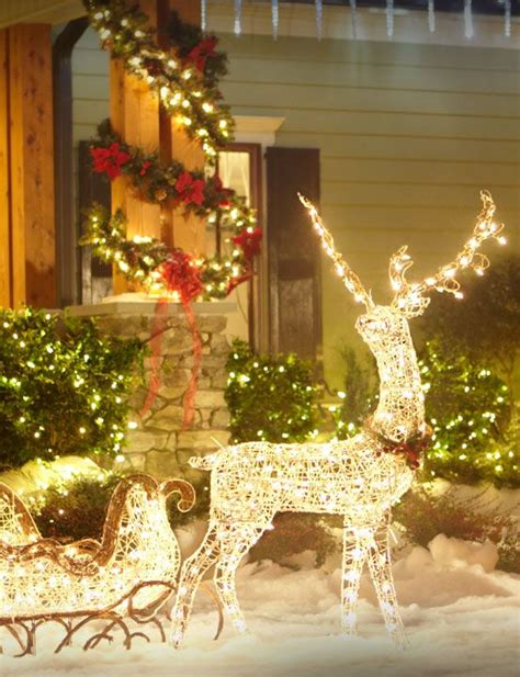 lighted reindeer outdoor christmas decor christmas