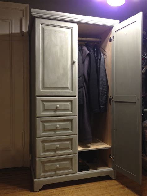 Coat Closet Armoire by Chalk Paint Thrift Store Armoire Becomes