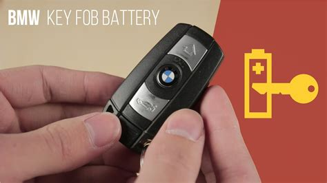bmw key fob battery replacement comfort access youtube