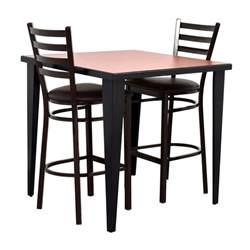76 counter height kitchen table and two chairs tables