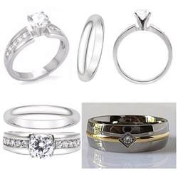 womens engagement rings 3pcs titanium and stainless steel 39 s engagement wedding ring set 39 s band ebay