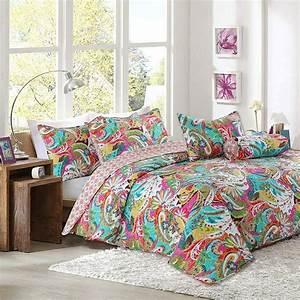 Cozy, Line, Home, Fashions, Floral, Paisley, Reversible, Quilt