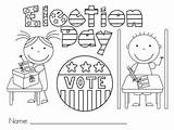 Election Coloring Pages Printable Voting Preschool Vote Kindergarten Craft Voter Presidential Registration Cards Teacher Lesson Ballots Kady Getcoloringpages Printcolorcraft sketch template