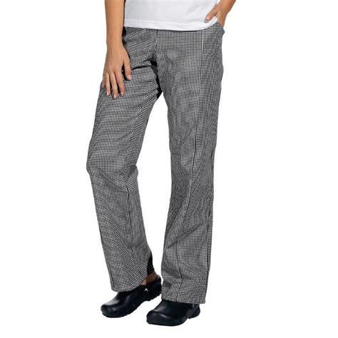 pantalon pied de poule cuisine pantalon de cuisine femme homme ceinture élastiquée