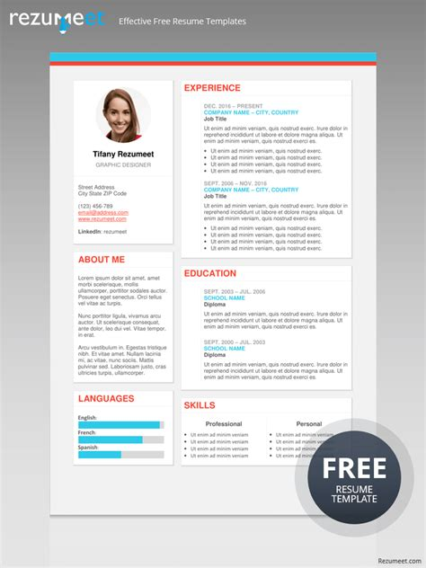 blue side resume template free modern resume templates