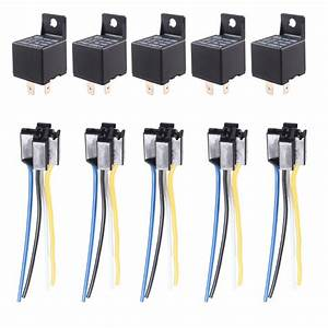5 X Car Truck Auto 12v 40a 40 Amp Spst Relay Relays 4 Pin