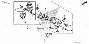 Honda Motorcycle 2009 Oem Parts Diagram For Rear Brake Caliper