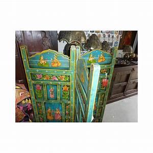 Tete De Lit Bleu : paravent t te de lit moghol bleu meubles indiens anciens ~ Premium-room.com Idées de Décoration