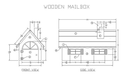 plans  wooden mailbox  woodworking