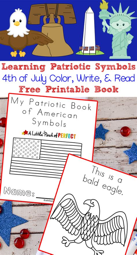 learning patriotic symbols free printable 4th of july book 109 | 6a62c212d55022251c69ced569a3aab6