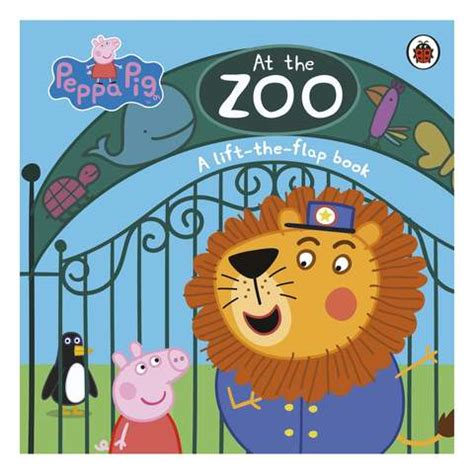 peppa pig   zoo lift  flap book kmart
