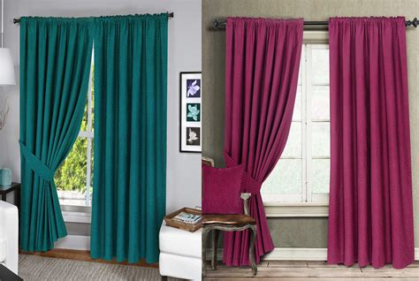 Menaal Pair Of 100% Cotton Curtains Fully Lined Solar Thermal Blocking Lining Geometric Patterned Curtains Fabric Shower Curtain Liner With Suction Cups Making Longer Home Ideas Extra Long Panel Collection Pleat Styles Grommet Topped