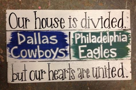 House divided sign. Homemade DIY. Pallet pieces. Dallas ...