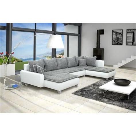 canapé en u conforama canapé d 39 angle conv u nano gris blanc angle droit achat
