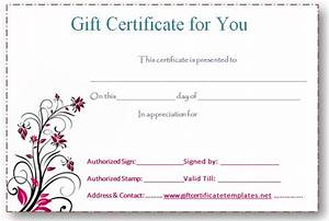 5 best images of free editable printable gift certificates With free online gift certificate maker template