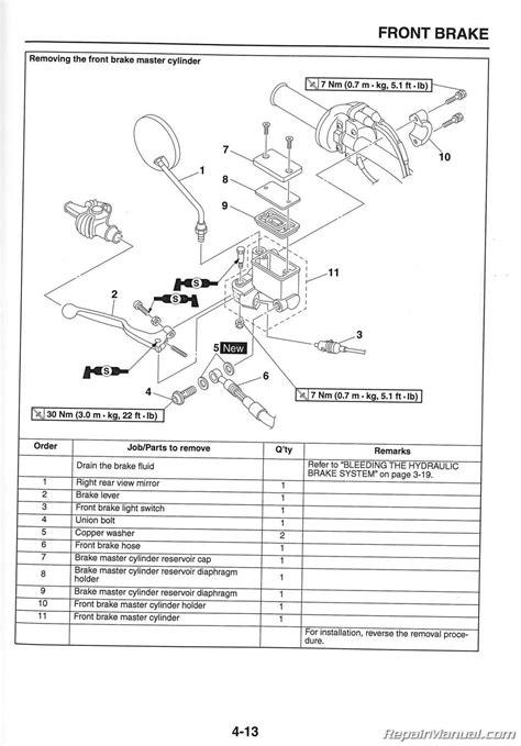 yamaha xt motorcycle service manual