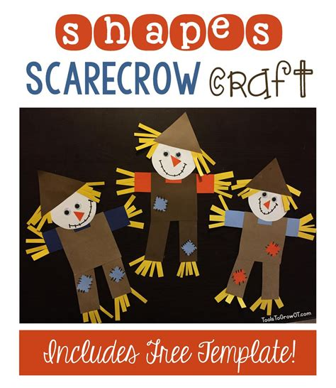 shapes scarecrow craft scarecrow crafts craft 530 | 56bfd069486f893b3a400755b4cfdba3