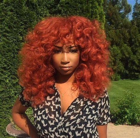 Red Natural Curly Hair Afriqué Queenz Curly Hair