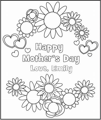 Coloring Pages Printable Mother Personalized Mothers Frecklebox