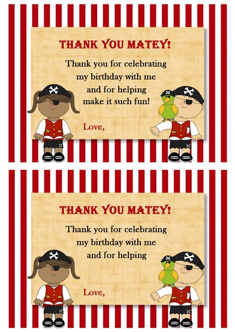 pirate   cards birthday printable