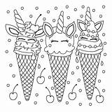 Ice Cream Coloring Pages Printable Everfreecoloring sketch template
