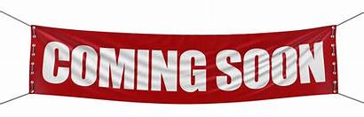 Soon Coming Banner Opening Sign Clipping Path