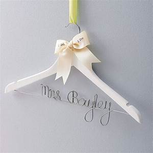 personalised wedding dress hanger by clouds and currents With wedding dress hanger