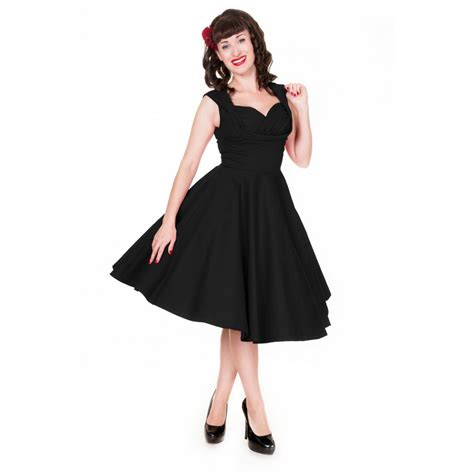 U0026#39;Opheliau0026#39; black swing dress by Lindy Bop | The Retro Collection