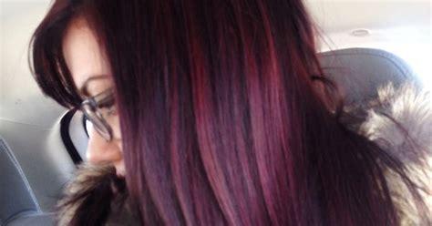 Dark Brown Violet Hair With Plum Highlights