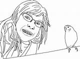 Coloring Pages Parakeet Clarabelle sketch template