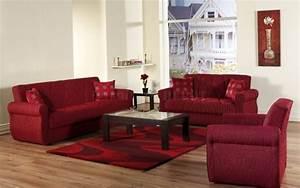 Deco salon en couleur rouge quelques idees magnifiques for Tapis rouge avec ensemble canapé tissu