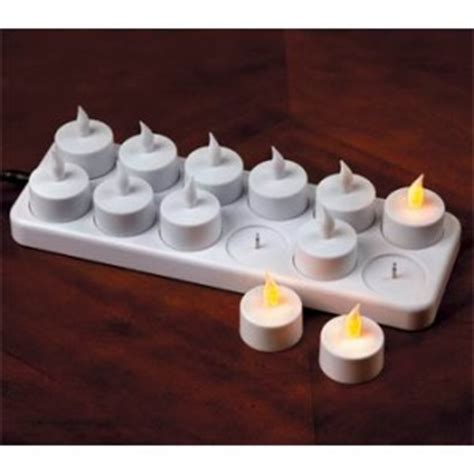 automatic tea light candles new 12 x flameless rechargeable electric tea lights