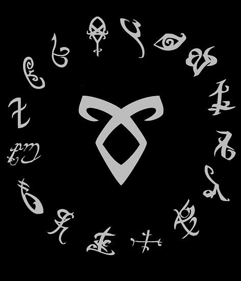 quot all runes symbol shadowhunters quot posters by jellyfishcream redbubble
