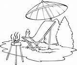 Chair Beach Drawing Lounge Getdrawings Coloring Pages Clip sketch template
