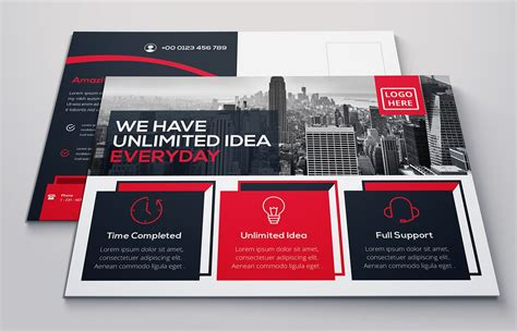 creative advertising corporate postcard design template
