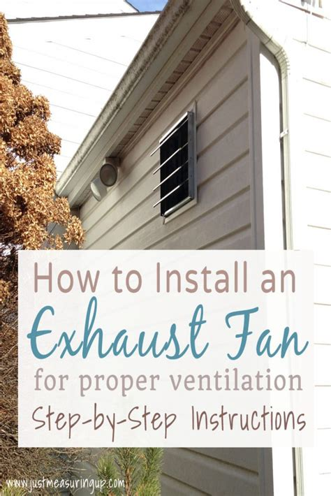 how to ventilate a garage how to install an exhaust fan easy diy garage