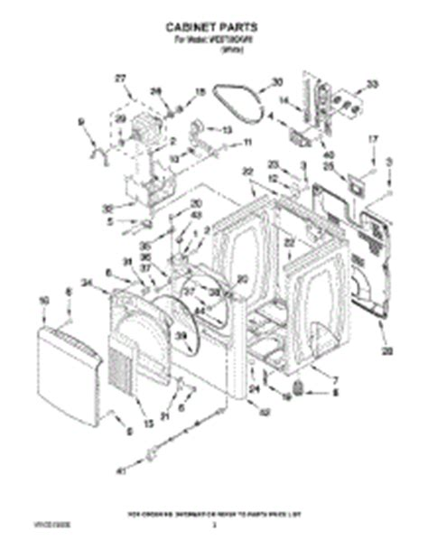 whirlpool wed7300xw0 parts list and parts for whirlpool wed7300xw0 dryer appliancepartspros