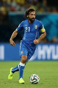 Andrea Pirlo of Italy against England in the 2014 World ...
