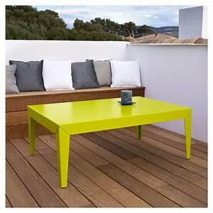 Table De Jardin Grise : table basse design en m tal zef mati re grise ~ Teatrodelosmanantiales.com Idées de Décoration