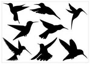 Hummingbird and Flower Silhouette Clip Art