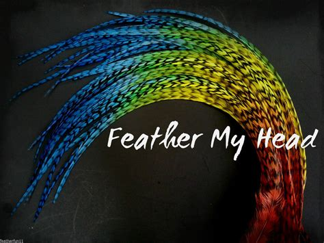 Tie Dye Fade Feather Extensions Real Grizzly Rooster